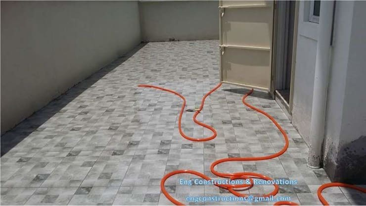 Outdoor Tiling:  Floors by Sam Contractors Ipoh, Asian Ceramic