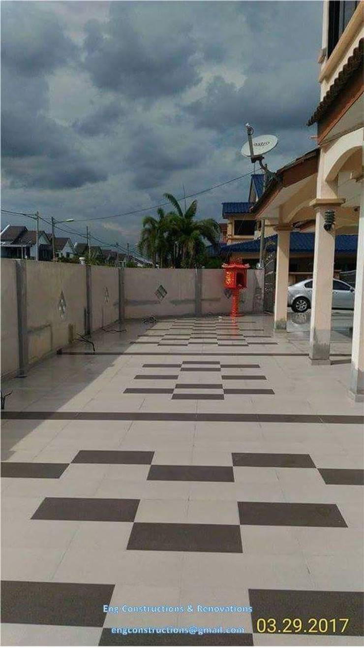 Outdoor Tiling:  Floors by Sam Contractors Ipoh, Modern Ceramic