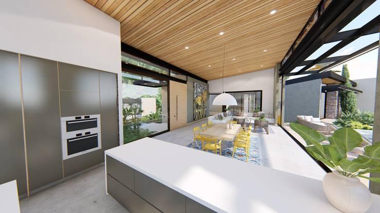 Casa de campo calima / astratto  : Cocinas de estilo moderno por astratto