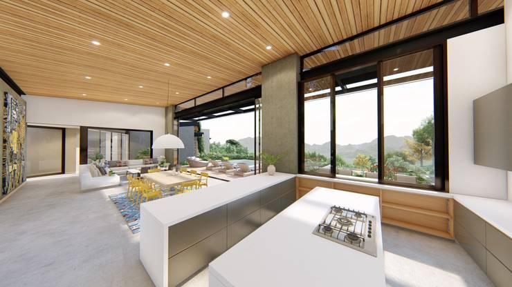 Casa de campo calima / astratto  : Cocinas de estilo  por astratto