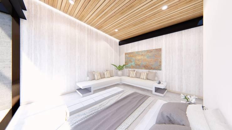 Casa de campo calima / astratto  : Habitaciones de estilo moderno por astratto