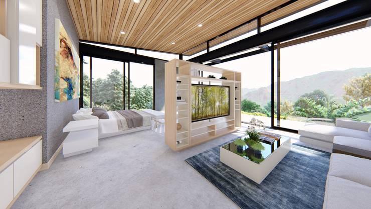 Casa de campo calima / astratto  : Habitaciones de estilo  por astratto