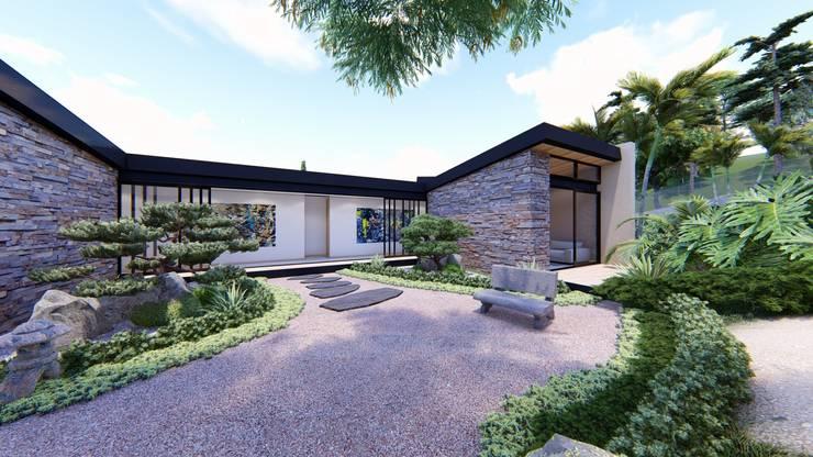 Casa de campo calima / astratto  : Jardines de estilo  por astratto