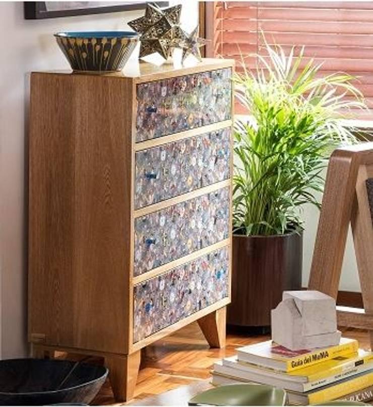 CAJONERO ÁNGELES: Estudio de estilo  por OCHOINFINITO Mobiliario - Interiorismo