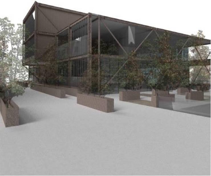 CREA Centro de recursos y exposiciones académicas: Escaleras de estilo  por MSA Arquitectos