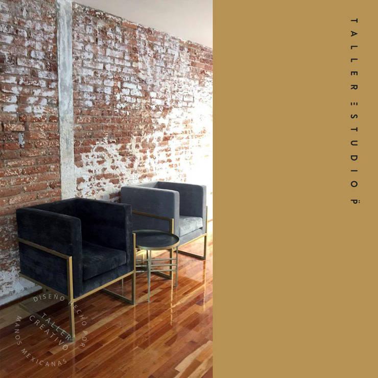 BARBERÍA CDMX: Oficinas y tiendas de estilo  por Taller Estudio P