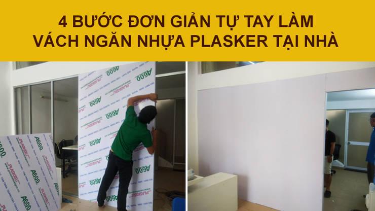 4 bước đơn giản tự làm vách ngăn 1 lớp khung chống nước tại nhà:   by Picomat Sài Gòn