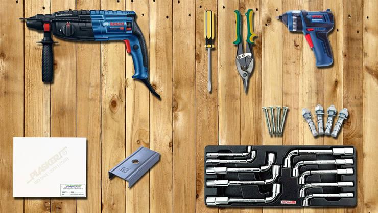 Bước 2: Chuẩn bị dụng cụ và vật liệu cần thiết để thi công vách ngăn thô:   by Picomat Sài Gòn