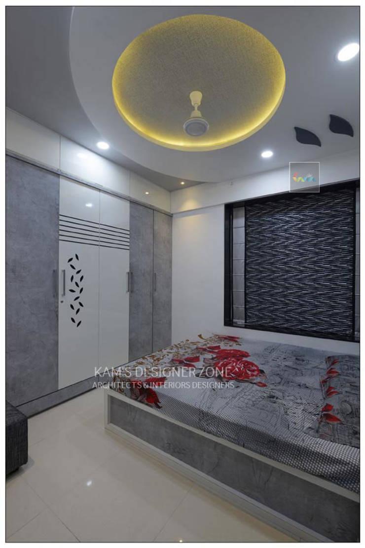 Interior Designing For Mr. Prashant Paraswar:  Bedroom by KAM'S DESIGNER ZONE,Modern