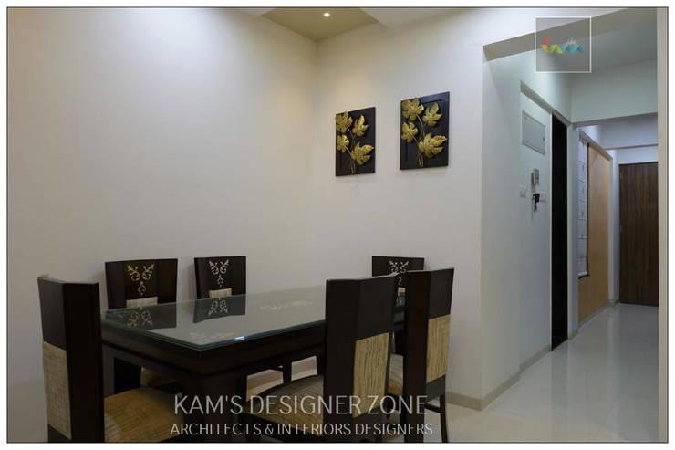 Interior Designing For Mr. Prashant Paraswar:  Dining room by KAM'S DESIGNER ZONE,Modern