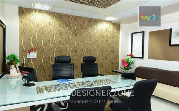 Interior design of Dhawade Office:  Conference Centres by KAM'S DESIGNER ZONE,Modern