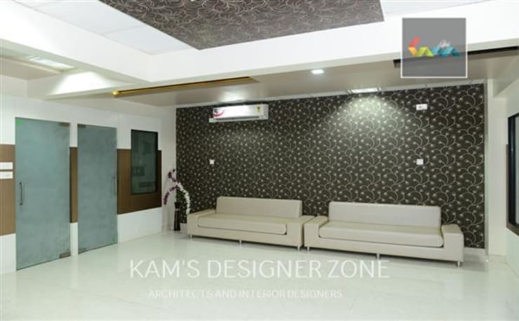 Interior design of Dhawade Office:  Commercial Spaces by KAM'S DESIGNER ZONE,Modern