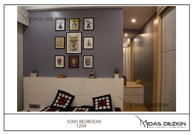 Mr. Sahil Sarbai: asian Bedroom by Midas Dezign