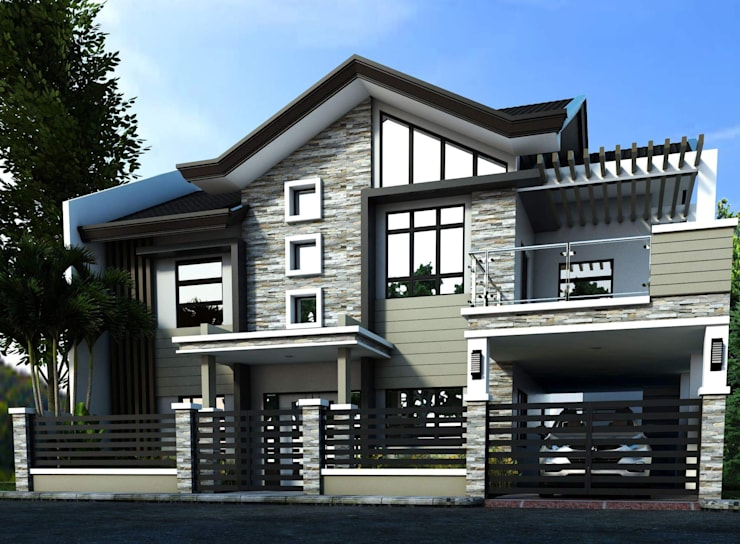 Three (3) storey Residential Building:   by Arkitonic Builders