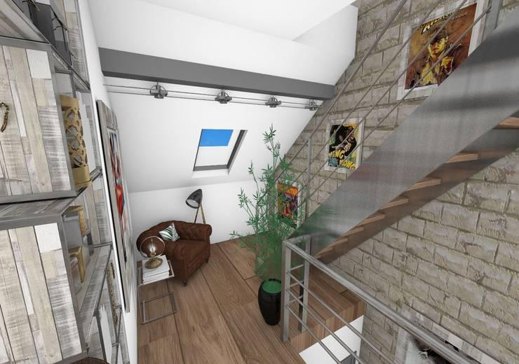 Dégagement: Couloir et hall d'entrée de style  par Crhome Design,