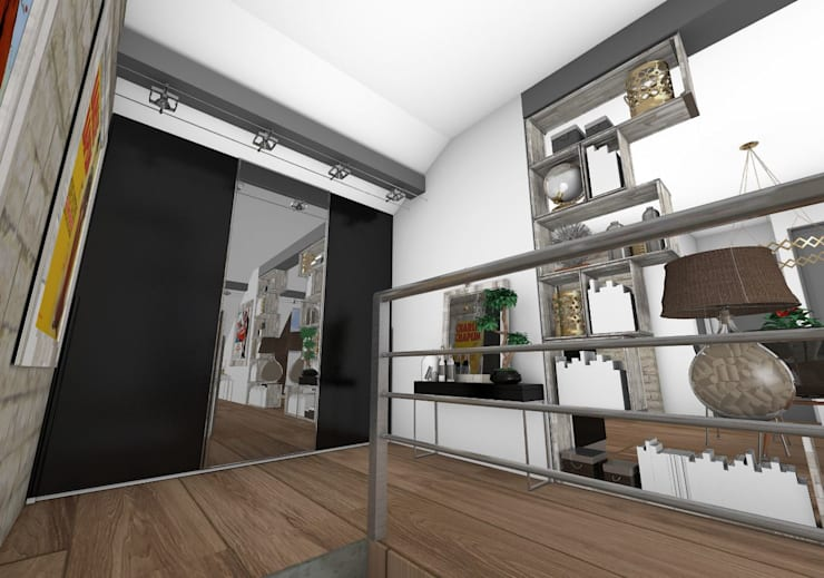 Entrée: Couloir et hall d'entrée de style  par Crhome Design,