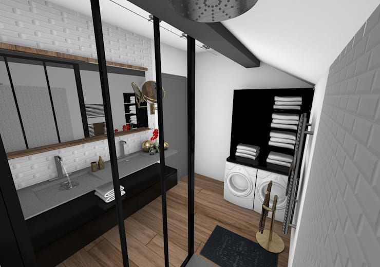Salle de bain: Salle de bains de style  par Crhome Design,