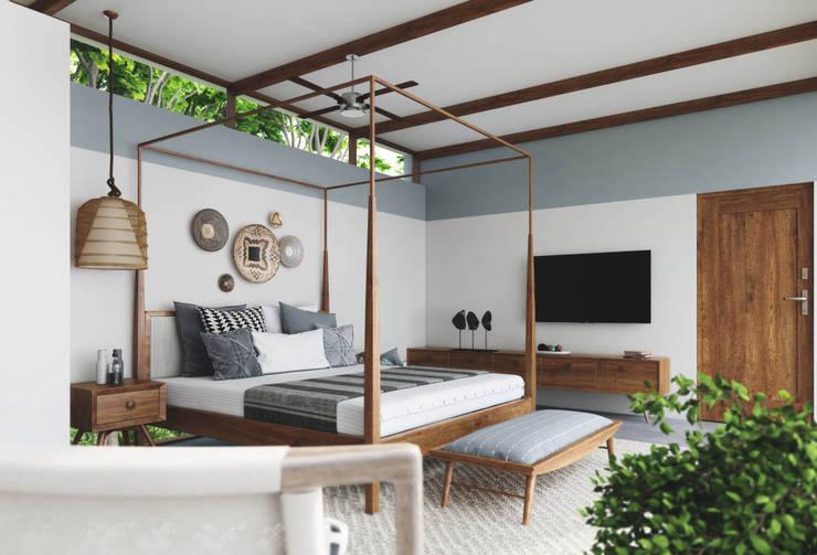 Han House:  Bedroom by Studio Gritt,Rustic