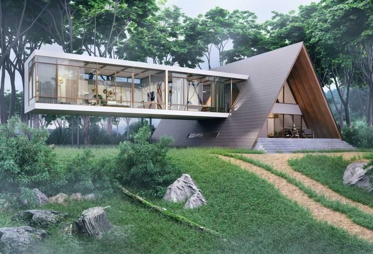 Han House:  Houses by Studio Gritt,Rustic