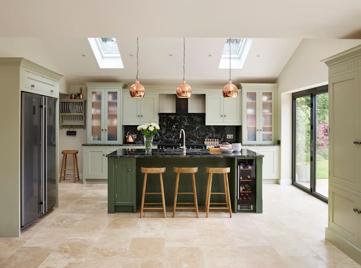 Canterbury | A Vision In Green :  Kitchen by Davonport