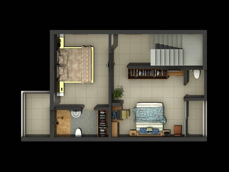 Raw House Duplex Scheme: modern  by Designclick,Modern