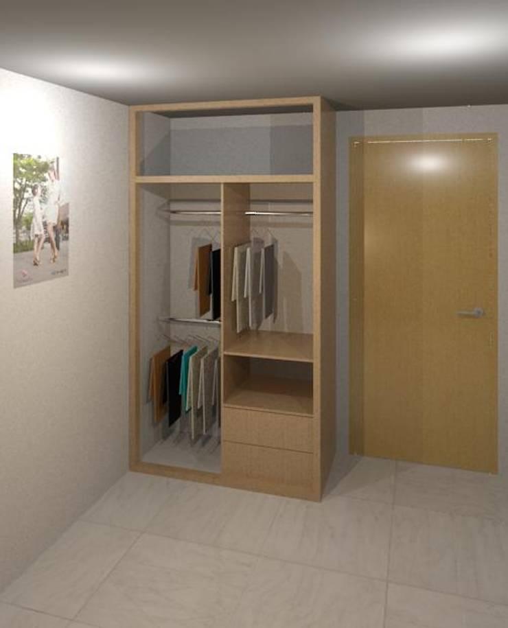 Armario render: Habitaciones de estilo moderno por Cosmoservicios SAS