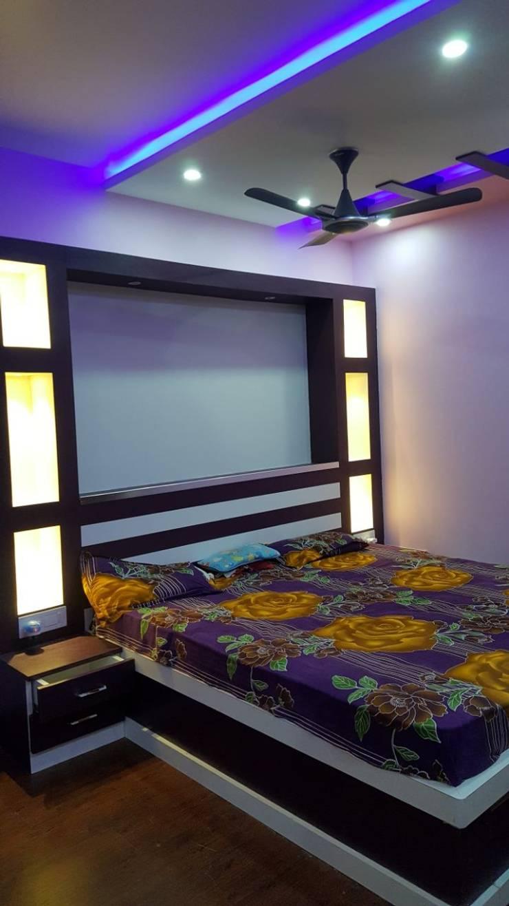 Ajmera Stone Park 1:  Bedroom by 12 Square Interiors ,Modern