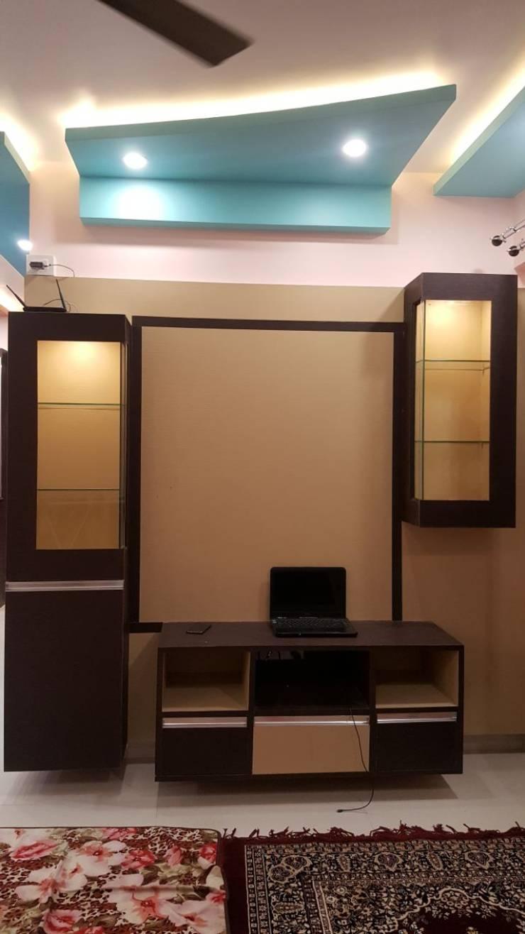 Ajmera Stone Park 1:  Dressing room by 12 Square Interiors ,Modern