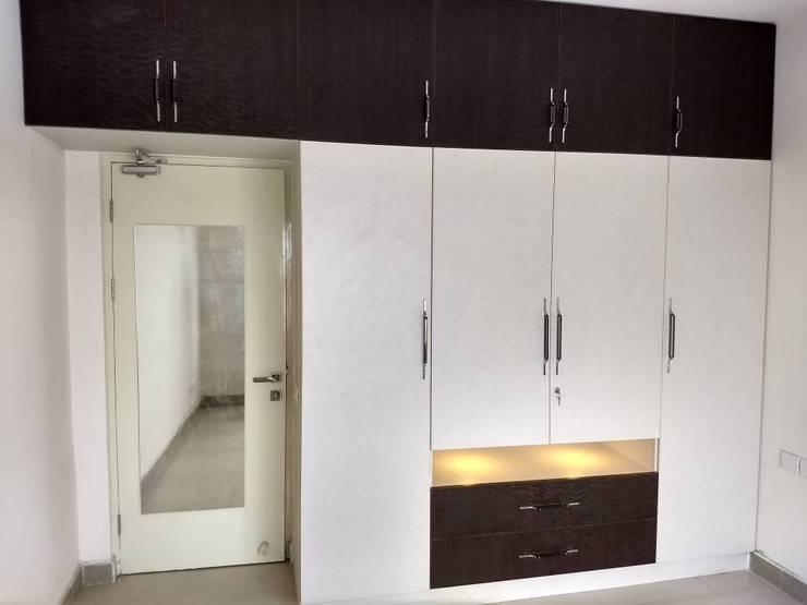 Salarpuria Greenage:  Dressing room by 12 Square Interiors ,Modern