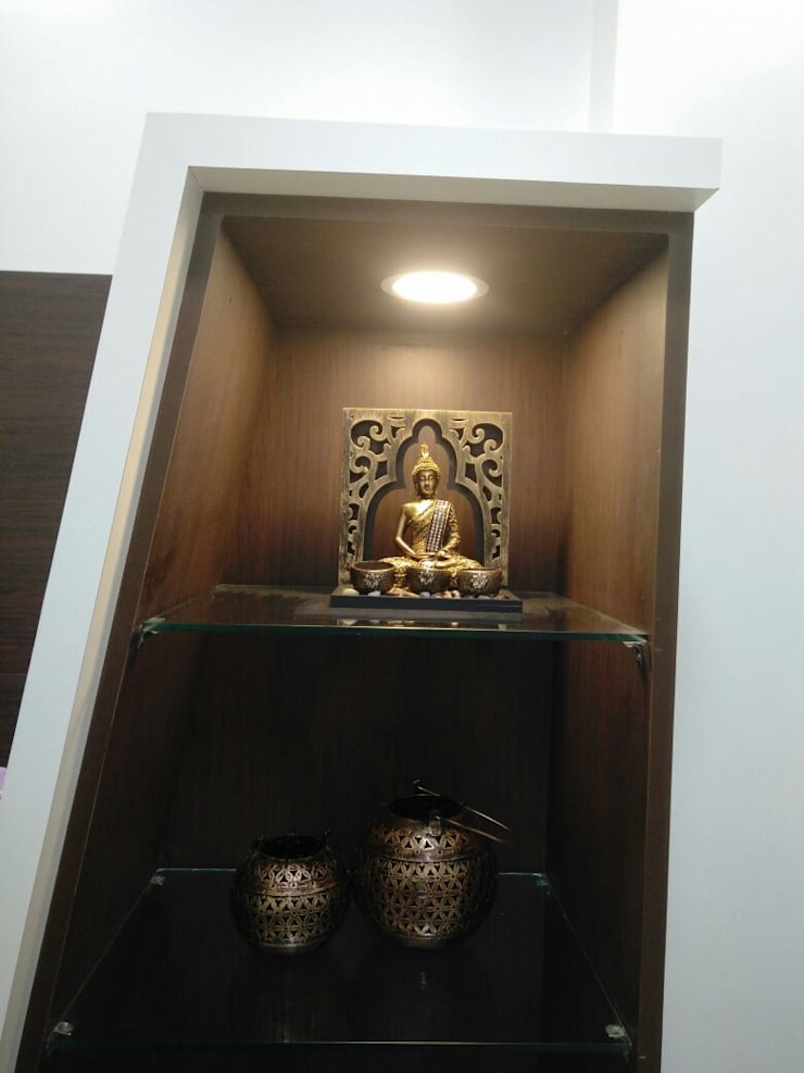 Samprasiddhi GreenEdge:  Living room by 12 Square Interiors ,Modern