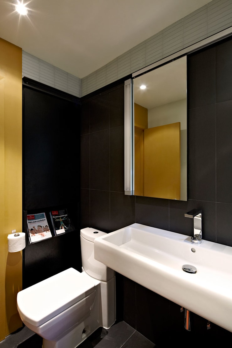 Architects Modern:  Bathroom by KUBE Architecture
