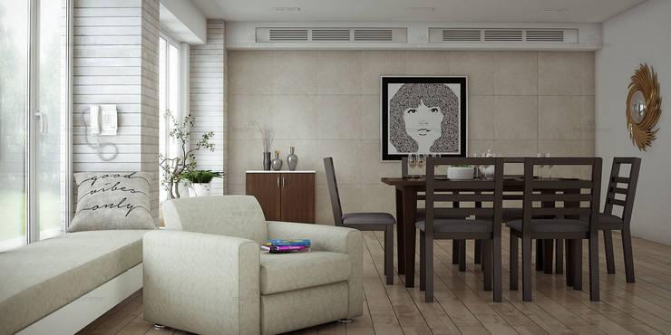 Home Improvement Ideas in Kerala:  Dining room by Monnaie Interiors Pvt Ltd,Scandinavian