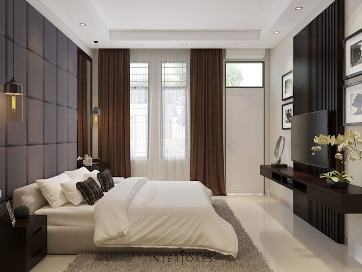 Master Bedroom View:   by INTERIORES - Interior Consultant & Build