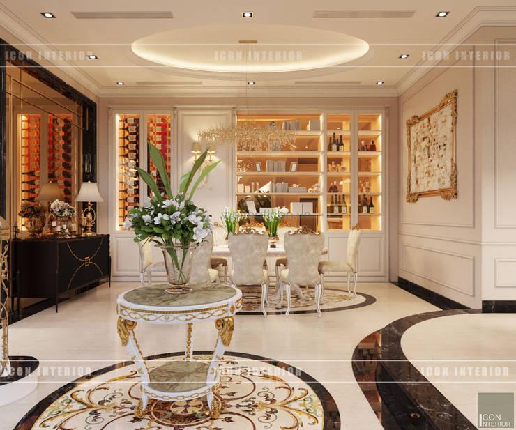Thiết kế nội thất biệt thự phong cách tân cổ điển sang trọng:  Phòng ăn by ICON INTERIOR