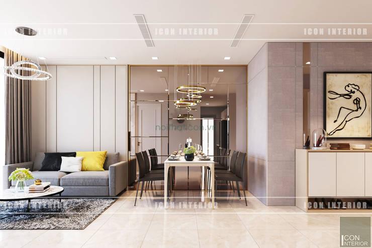 Thiết kế nội thất phong cách hiện đại thanh lịch và thân thiện:  Phòng ăn by ICON INTERIOR