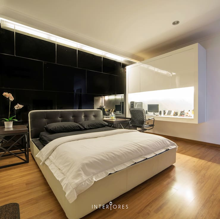 Kamar 3 - Tempat Tidur:  Kamar Tidur by INTERIORES - Interior Consultant & Build