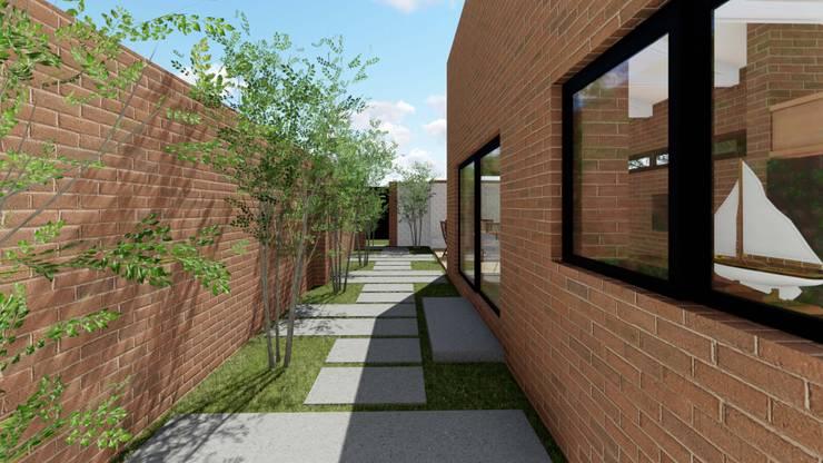 Residence Benvenuti - Outbuilding Conversion into Cottage:  Houses by Pieter Pieters Architect, Modern Bricks