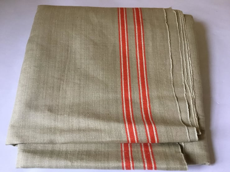 Vintage  Linen Continental Table runner.:  Household by Rural Retro