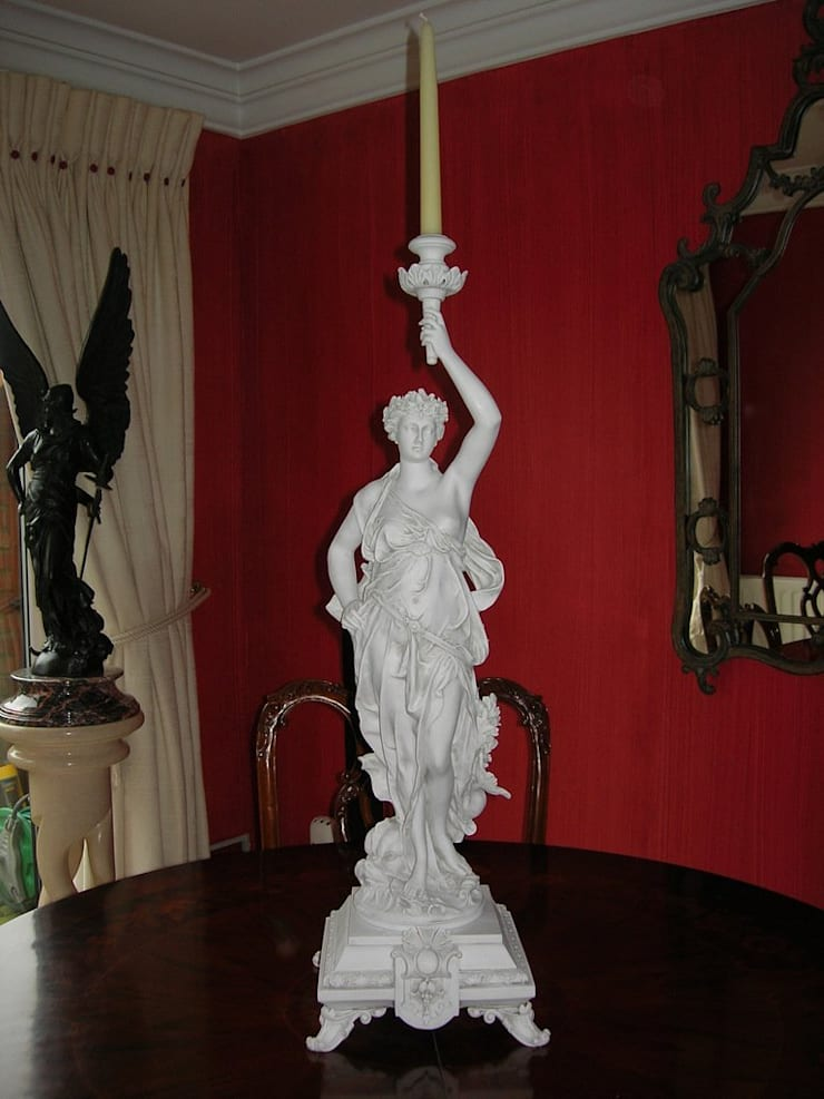 Candle Holder Figurine:  Artwork by The Ancient Home