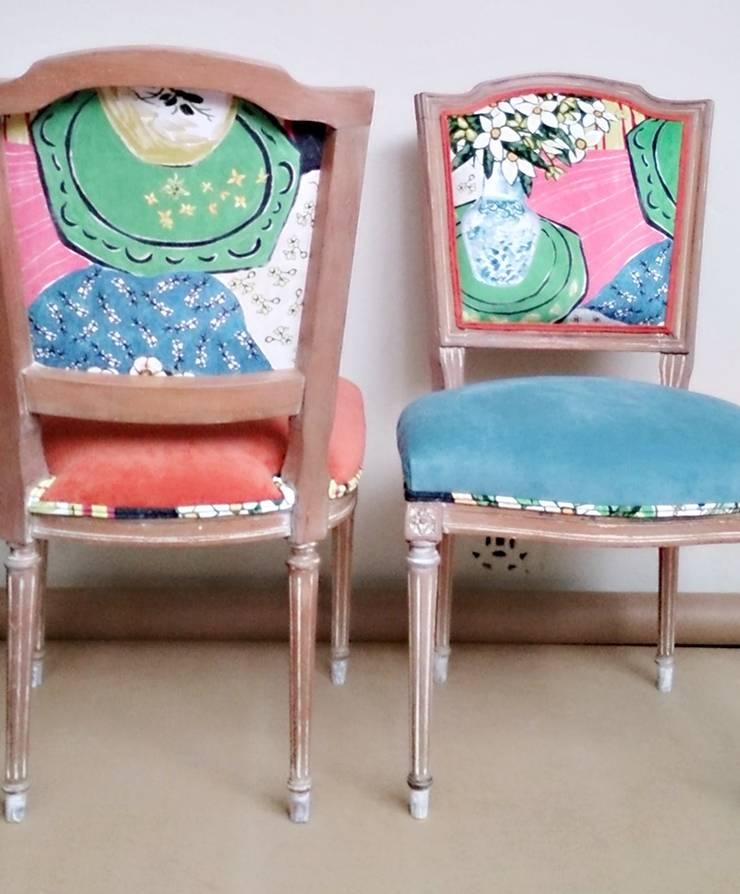 Restauración de sillas: Comedores de estilo  por Valeria Pires Interiorismo