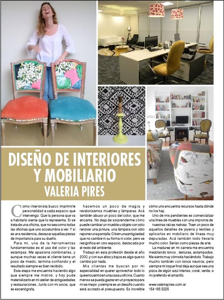 Nota para revista Caras: Comedores de estilo  por Valeria Pires Interiorismo
