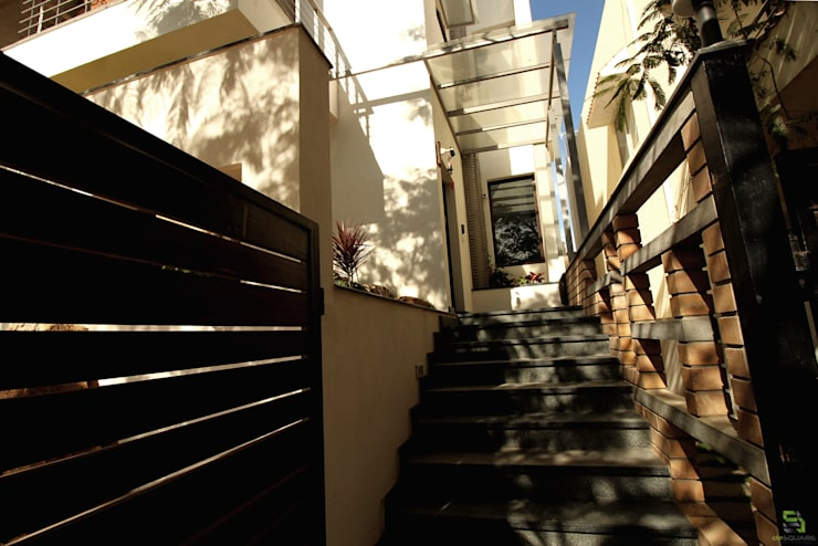 ENTRANCE STEPS:  Stairs by de square,Rustic