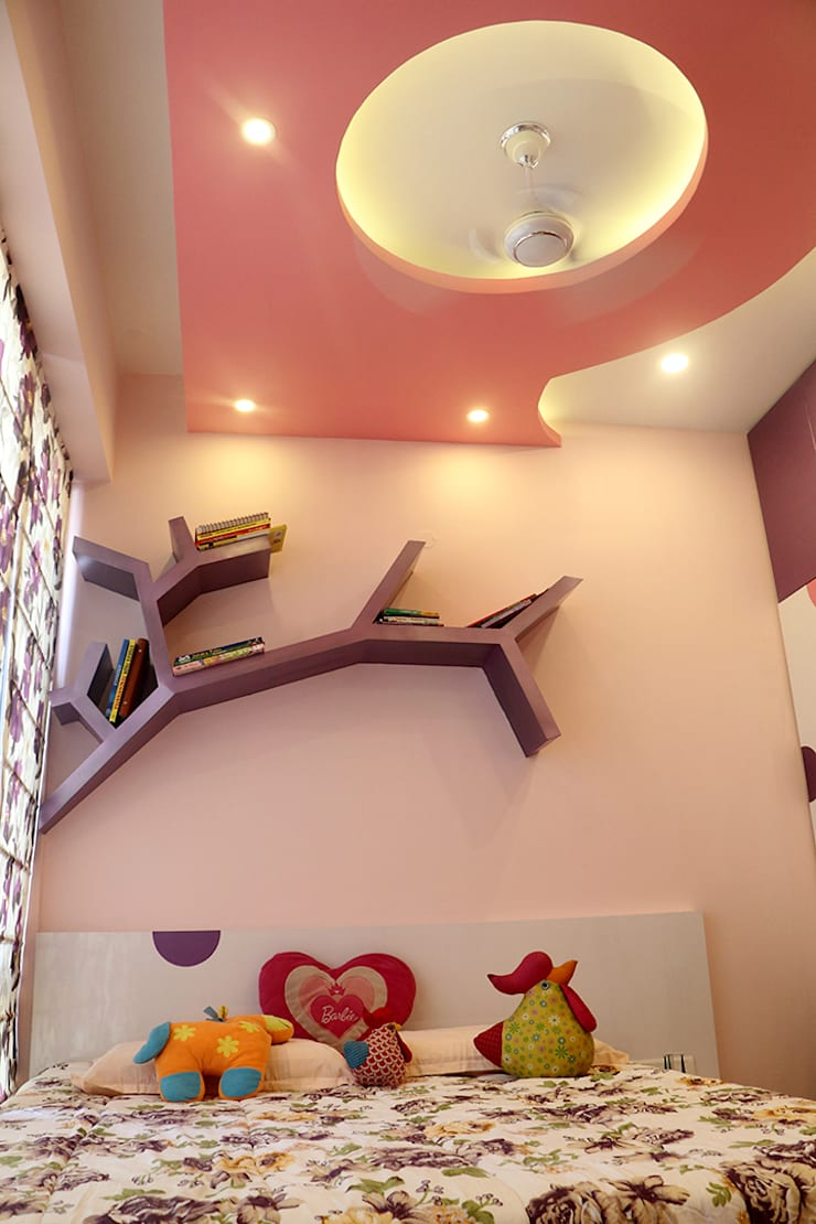 3 BHK Apartment Of Dr Sagar Bangalore:  Bedroom by Cee Bee Design Studio,Modern