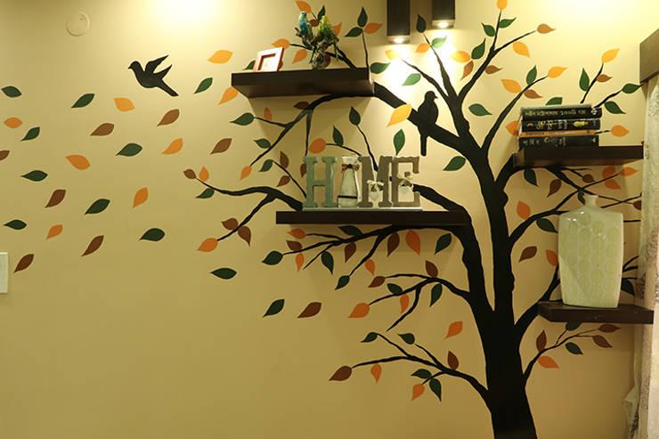 Living Room of Mr Jahan Biswas Kolkata:  Living room by Cee Bee Design Studio,Modern