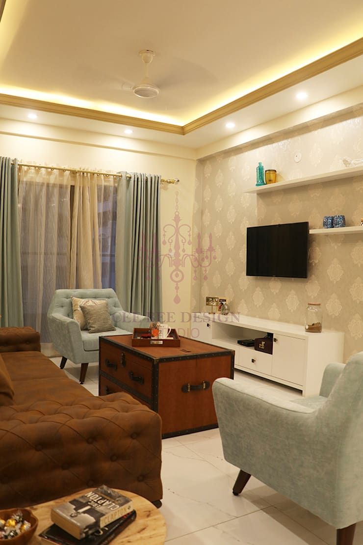 Livings de estilo de Cee Bee Design Studio Rural