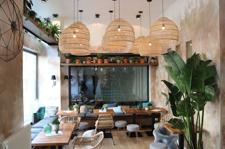 multiple rattan lamps von Ivy's Design - Interior Designer aus Berlin Mediterran Rattan/Korb Türkis