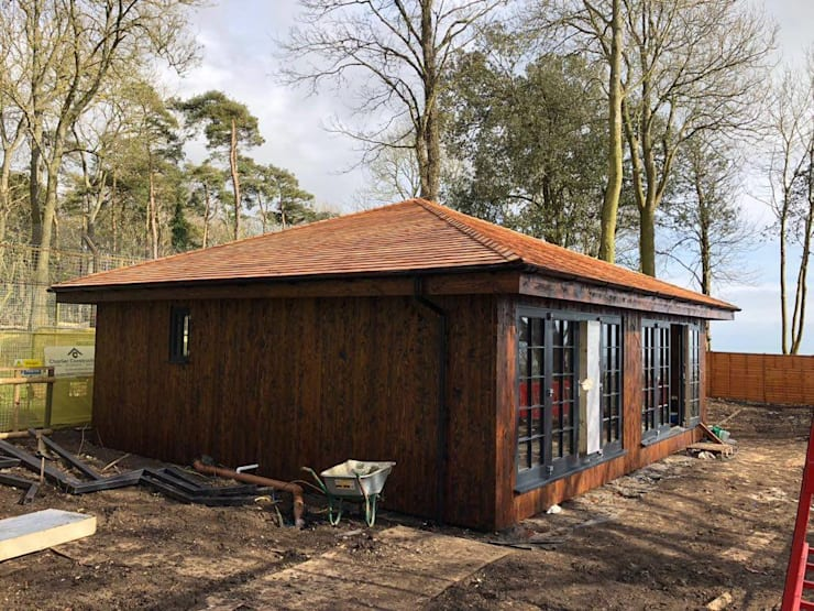 External by Building With Frames Colonial Wood Wood effect