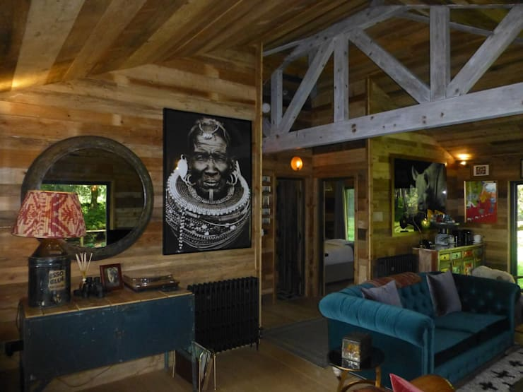 Living Room by Building With Frames Colonial Wood Wood effect