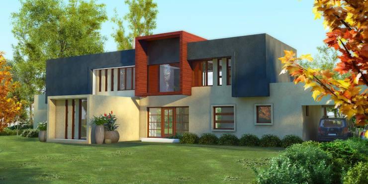 Altos del Bio Bio: Casas de estilo mediterraneo por Constructora Rukalihuen