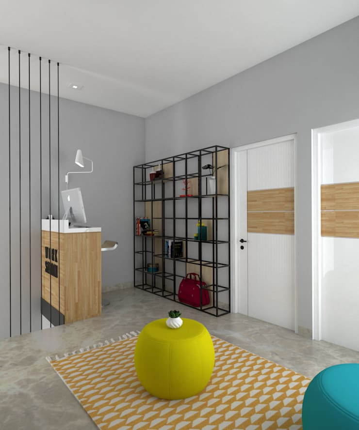 Ruang Kerja dan Bersantai:  Ruang Kerja by CASA.ID ARCHITECTS